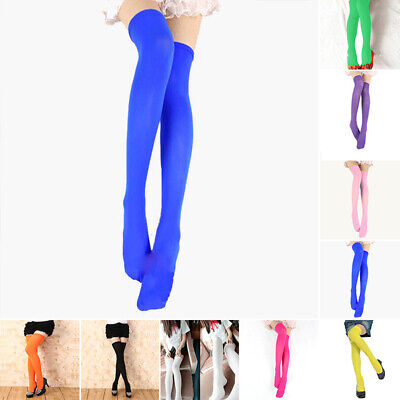Girls Extra Long Boot Socks Over Knee Tight High School Stocking Candy Color