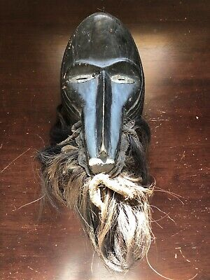 Lega Mask Bearded Antique Bwami Society Congo African Wood Tribal Art Carved DRC
