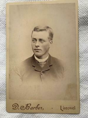 Antique Cabinet Card Photo Man with Piercing Eyes Listowel Ontario Canada