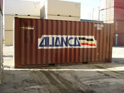 Used 20' Dry Van Steel Storage Container Shipping Cargo Conex Seabox Cleveland