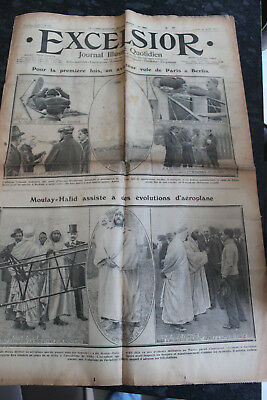 Excelsior 20/08/1912 1er Vol Paris-berlin