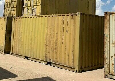 Used 20' Dry Van Steel Storage Container Shipping Cargo Conex Seabox Columbus