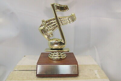 MUSIC CLEF NOTE SONG Special Award Trophy Real Wood Base, FastShip