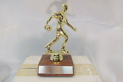 BOWLING TEAM MVP CAPTAIN Boys Male Special Award Trophy, Real Wood Base FastShip