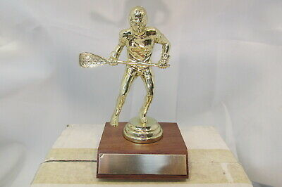 LACROSSE Mens Boys Male Special Award Trophy Real Wood Base, FastShip