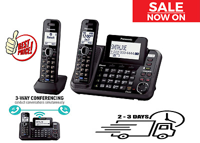 Panasonic 2-Line Cordless Phone System - Answering Machine, Link2Cell, Bluetooth