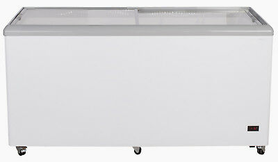 """Chef's Exclusive 52"""" Commercial Ice Cream Glass Display Chest Freezer Case"""