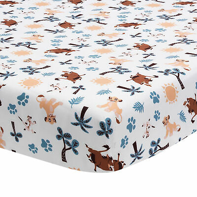Disney Baby Lion King Adventure White Baby Fitted Crib Sheet by Lambs & Ivy