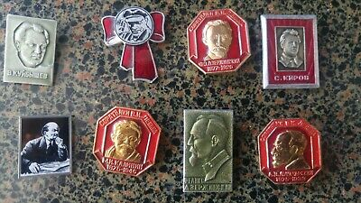 Lenin and his followings   Soviet USSR CCCP Russia  badges