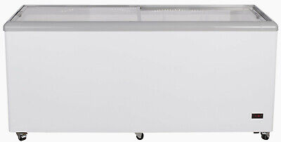 """Chef's Exclusive 71"""" Commercial Ice Cream Glass Display Chest Freezer Case"""