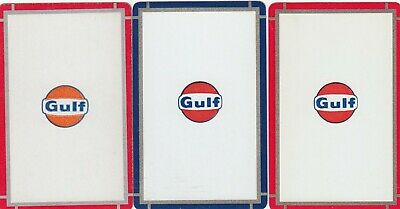 ADS - GULF - 3   single vintage swap playing cards