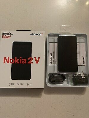 New Verizon Wireless Nokia 2V Prepaid Smartphone Black Free Shipping!!