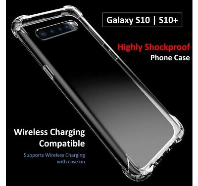 New Samsung Galaxy S10 + Plus Shockproof Bumper Case Soft Clear Cover Protect