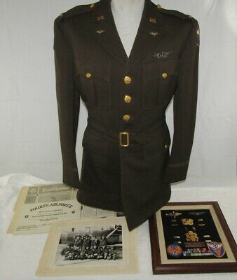 U.S. Army Air Forces WW2 Named Bombardier Uniform/Document/Insignia Grouping.