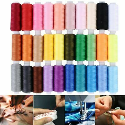 30X Roll Polyester Colors Sewing Thread Box Kit Set For DIY Sewing Machine Home
