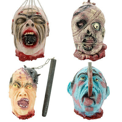 Scary Latex Mask Halloween Decorations Horror Full Head Props Face Realistic Men