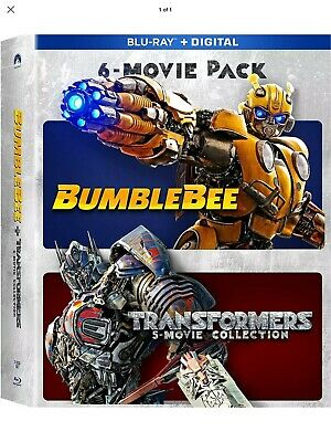 Bumblebee + Transformers 6-Movie Collection (Blu-ray + Digital, 2019) NEW SEALED