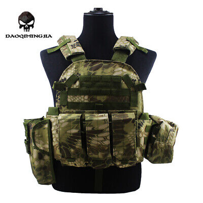 Swat Tactical Military Vest Army Molle Airsoft Combat Gear Assault Plate Carrier