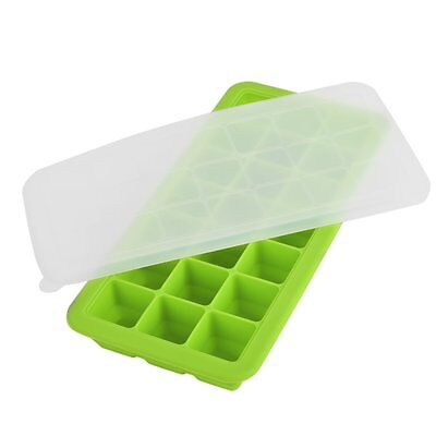 Baby Weaning Food Freezing Cubes Tray Freezer Storage Safety Silicone Green LAC