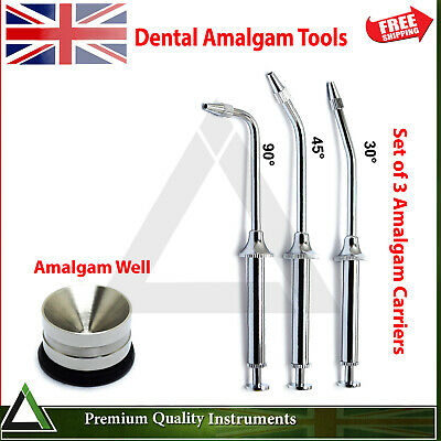Restorative Amalgam Carrier Guns & Well Mixing Pot Dental Filling Instruments