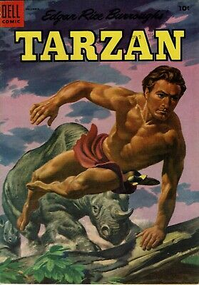 TARZAN  No 63  in Very Fine Condition 1954 1st Series PAINTED COVER DELL Comics