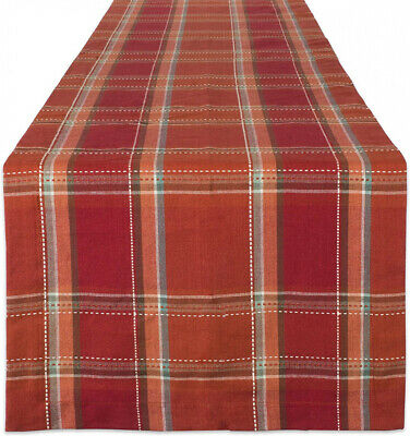 """DII Cotton Table Runner Perfect for Fall, Thanksgiving, Catering 14x72"""""""