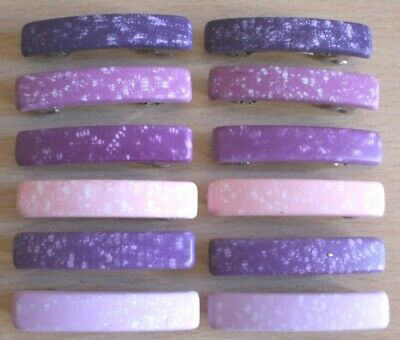 Girls Pink And Purple Hair Clips Pack Of 12 Assorted