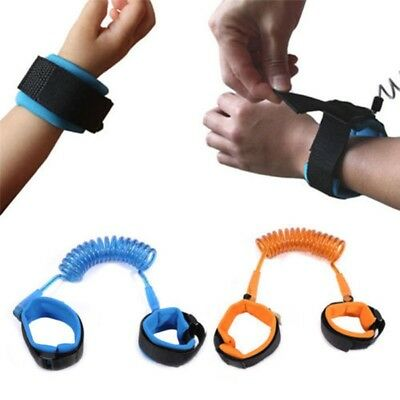 Safety Anti-Lost Spring Wristband Harness Rope Belt Elastic Wires Blue LAC
