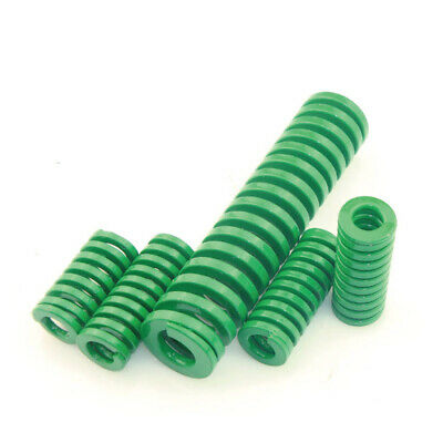 Heavy Load Die Mold Spring OD 8mm to 40mm TH Green Spring Steel ID 4mm to 20mm