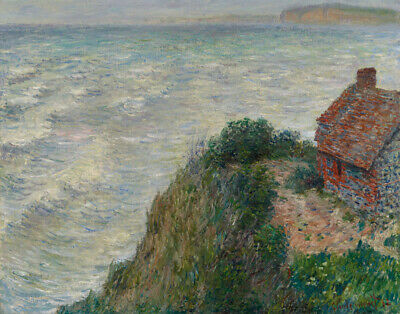 Ocean Sea View House 8x10 Print 0516 The Fisherman/'s Cottage by Claude Monet