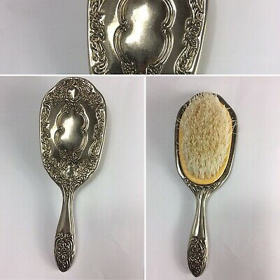Vintage Silver Brush Circa 1950's - 60's Ornate  Silverware Brush Bent a Little