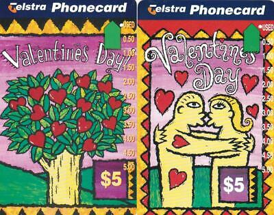 Telstra  $5 Valentines Day Kiss And Love Hearts Tree Perfect 1 Hole M21