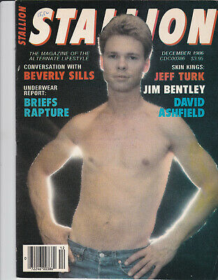 STALLION magazine gay - lot de 2 n° : nov 1982 - dec 1986