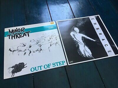 Minor Threat: Out Of Step AND Embrace Vinyl LP Punk Dischord Bundle