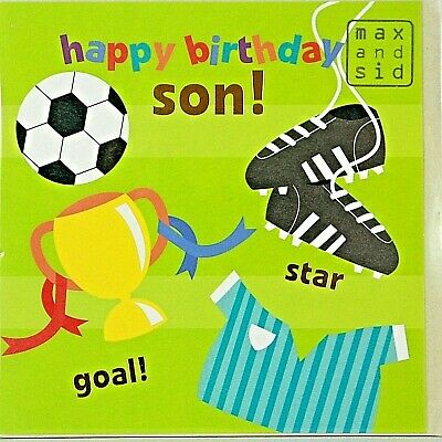 Son In Law Trophy Football Cricket /& Tennis Ball Design Happy Birthday Card
