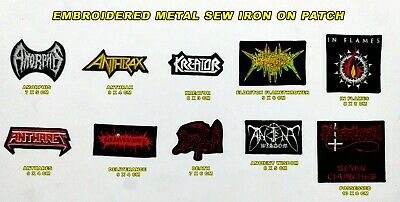 Patch Embroidered Metal, Death, Amorphis, Anthrax, In Flames, Kreator, Possessed