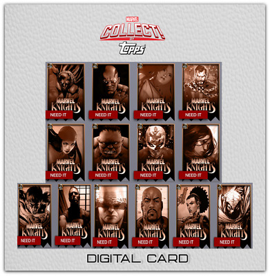 2019 MARVEL KNIGHTS FINAL PRINTING SET OF 14 Topps Marvel Collect Digital Card
