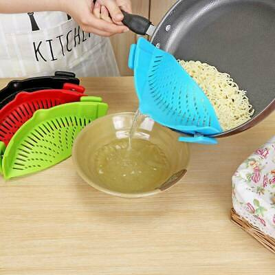 Kitchen Hand Held Pot or Pan Strainer Drainer for Rice Veg Pasta Colanders SD