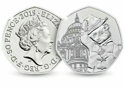 2019 PADDINGTON BEAR 1 x 50p COIN @ 'St.Pauls' Cathedral UNC   !!FREE P&P     M2
