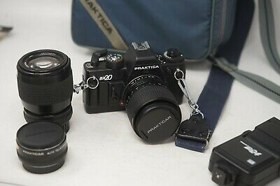 Praktica BX20 35mm Film SLR camera outfit with 35-70mm 2.8 and 70-210mm lenses