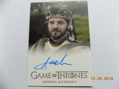 Rittenhouse Game of Thrones Season 3 - Autograph card - Gethin Anthony