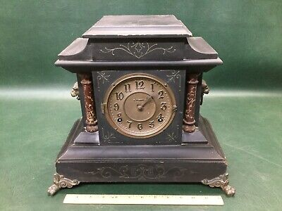 Antique 8 Day 1/2 Hour Strike Mantle Clock ~Made for American Wringer Co ~ As Is