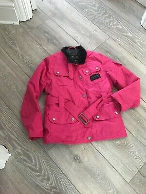 Barbour International Polarquilt Jacket Complete with belt. Girls size 'L 10/11