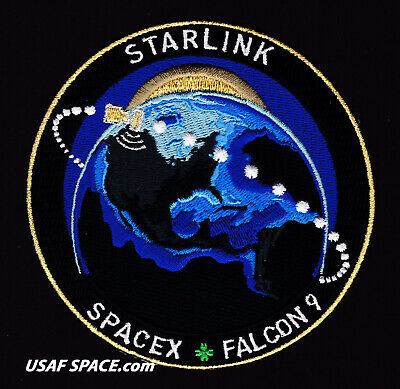 NEW STARLINK - SPACEX ORIGINAL - FALCON 9 Launch - SATELLITE Mission PATCH
