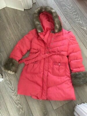 Juicy couture girls long coat age 12 pink