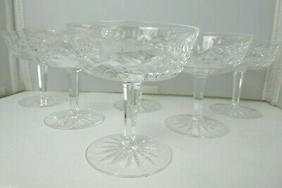 Set of (6)  Waterford Crystal Cut Glass Champagne /Tall Sherbet Lismore Pattern