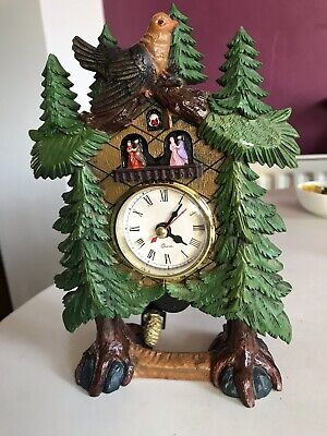 Pretty Vintage  Mantle Cuckoo Clock