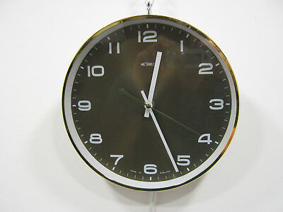 Retro Metamec Wall Clock, Vintage 1970s electric clock, working Northants
