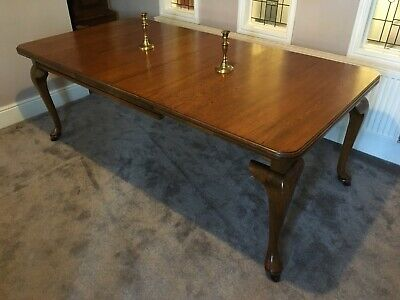 Antique Victorian Solid Oak Wind Out Extending Dining Table