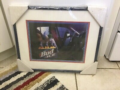 Anheuser-Busch framed Bud Ice Penquin limited edition Animation Art NEW